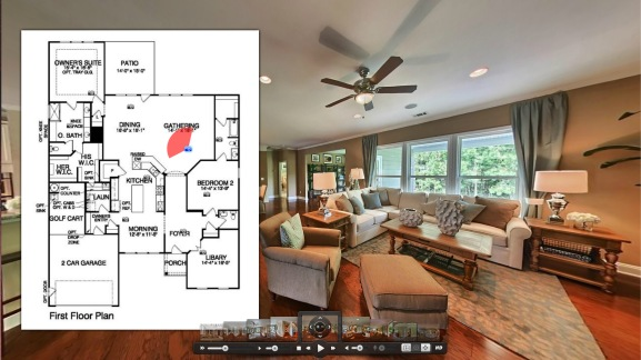 Home tours with floor plans rtv inc for House plans with virtual tours