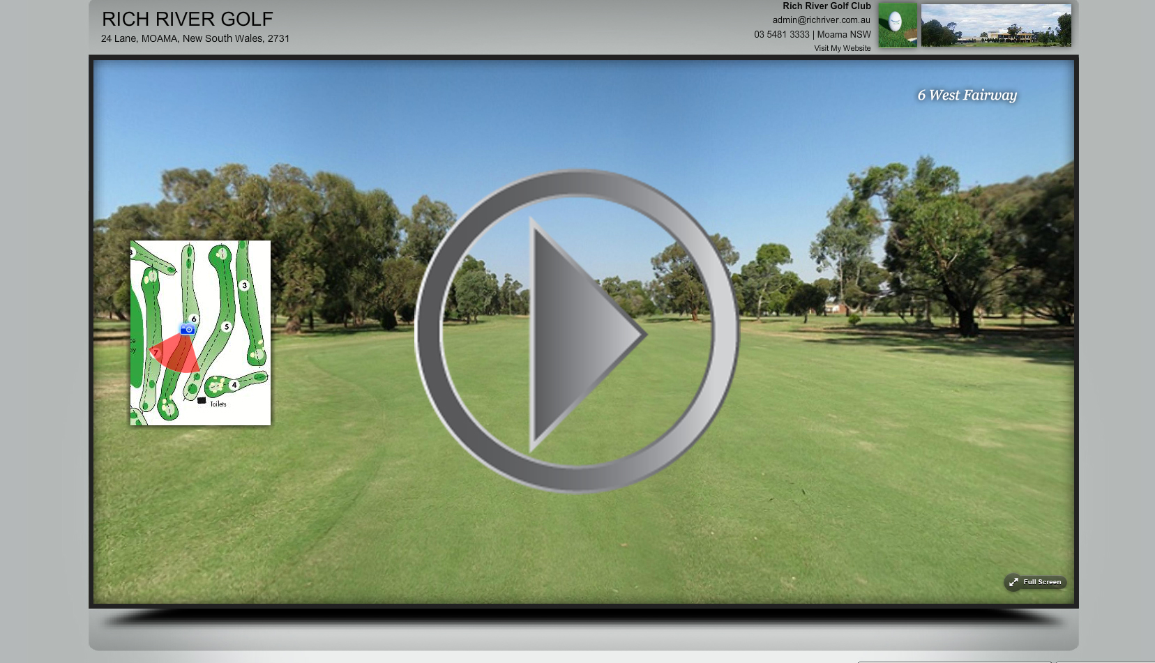 Professional Golf Course Virtual Tours