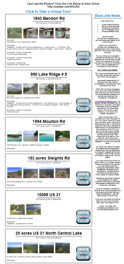Virtual Tour Hotsheet