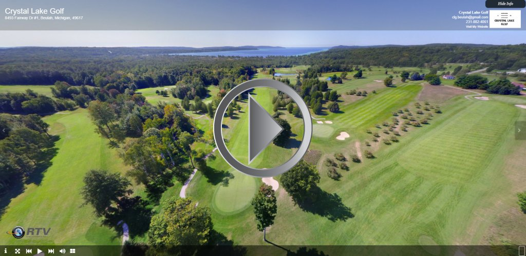 golf course aerial drone virtual tour