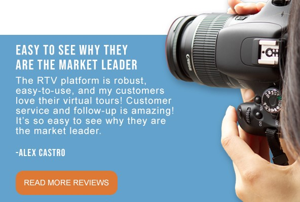 Learn More About RTV Virtual Tour Software and our Award-Winning Customer Service and Follow-up.