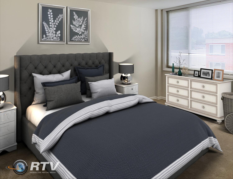 Parker_2 Bd - Bedroom One Staged