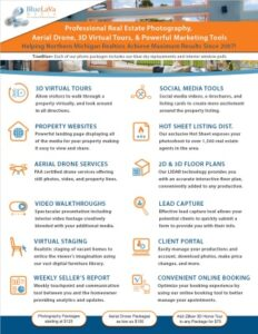 real estate photography business flyer